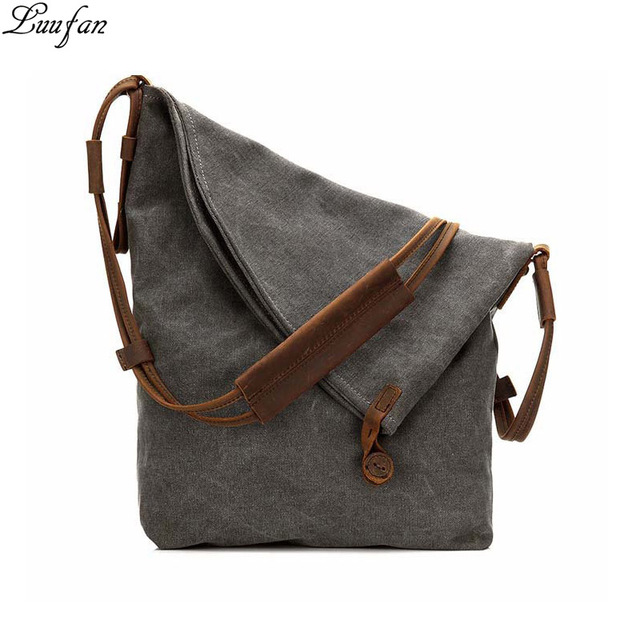 347d204bd6 2017 Fashion women canvas handbags Solid big capacity shoulder crossbody  bags durable leather fold over travel