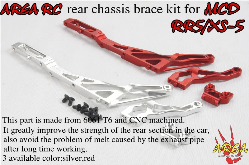 Area Rc Rear Chassic Brace for MCD RR5/XS5 area rc avant chassic brace v2 for losi 5ive t