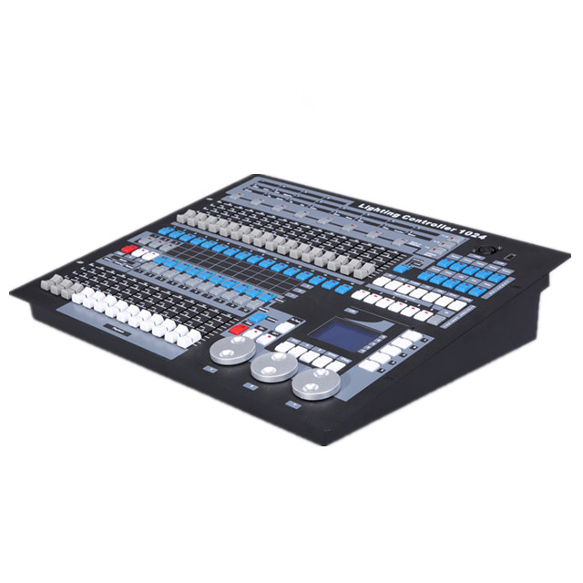 dmx controller 1024 Chinese console pearl 1024 stage stage bar lighting control console with flight case packing dmx512 digital display 24ch dmx address controller dc5v 24v each ch max 3a 8 groups rgb controller