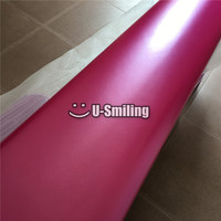 Premium Film Pearl Metal Rose Red Vinyl Wrap Foil For Car Sticker Bubble Free Car Wrapping Film
