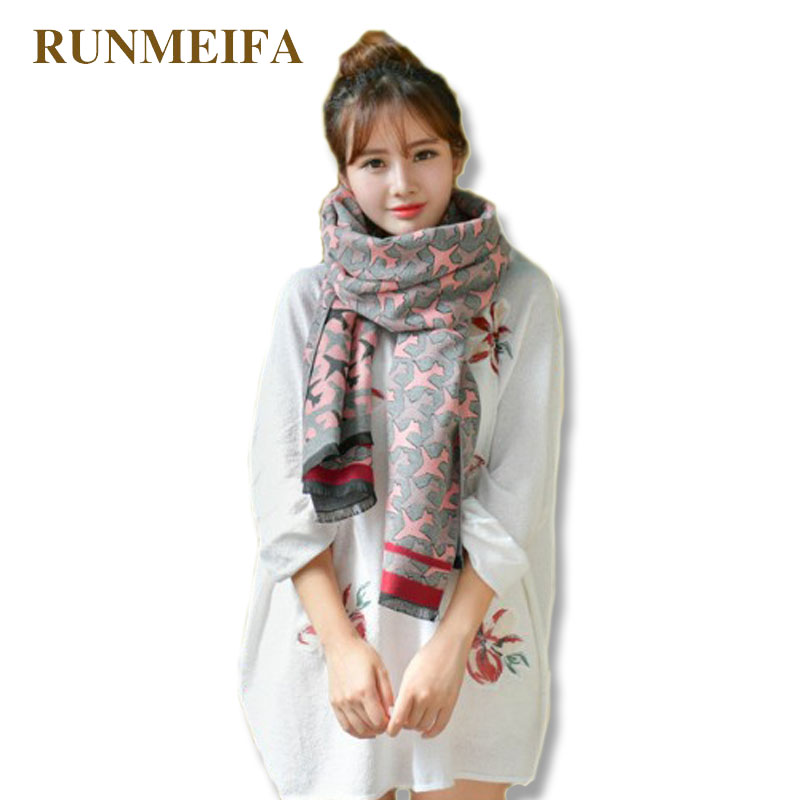 RUNMEIFA Double Side Scarf With Mini Airplane Pattern And Flowers Oversized Shawl Perfect For Autumn Winter Use Warm Blanket