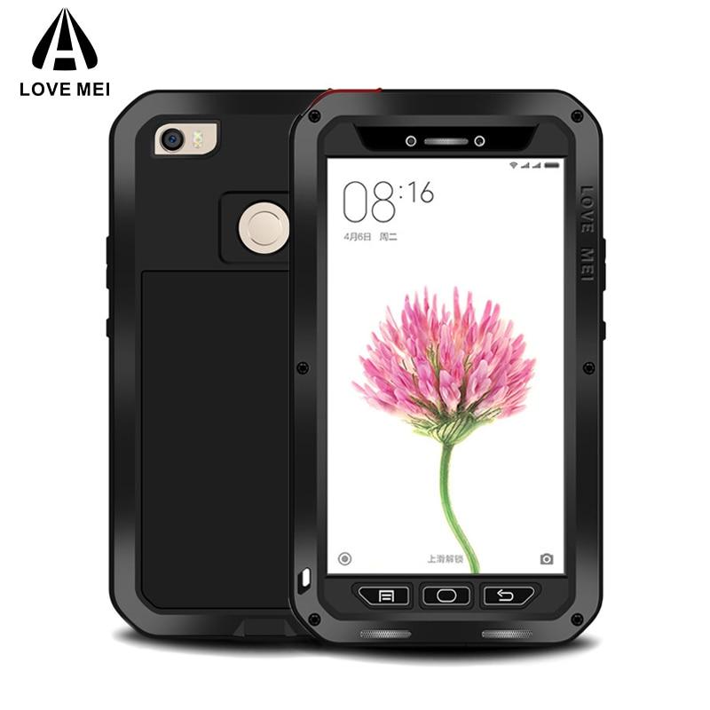 En Aluminium En métal Pour Xiaomi Mi Max 2 Cas Antichoc Couverture de luxe Téléphone dur Armure Pour Xiaomi Mi Max Téléphone Cas fundas coque