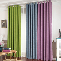 Thick Solid Cotton Curtain Fabric Modern Minimalist Custom Linen Yarn Curtains Shade Cloth Sunshade Tulle Bedroom