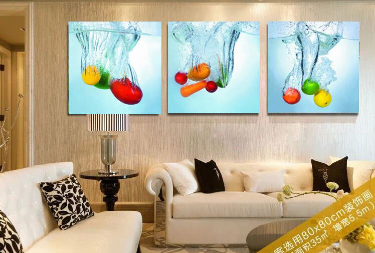 ... Fruits Kitchen Wall Paintings