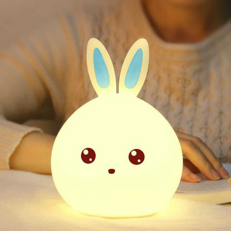 Led Rabbit Night Light USB For Children Baby Kids Gift Animal Cartoon Decorative Lamp Bedside Bedroom Living Room