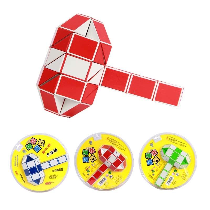 Wedge Creative Changeable 25mm Magic Snake Ruler Twist Magic Cube Puzzle Brain Teaser Intelligence Toys Random Color 60 segment