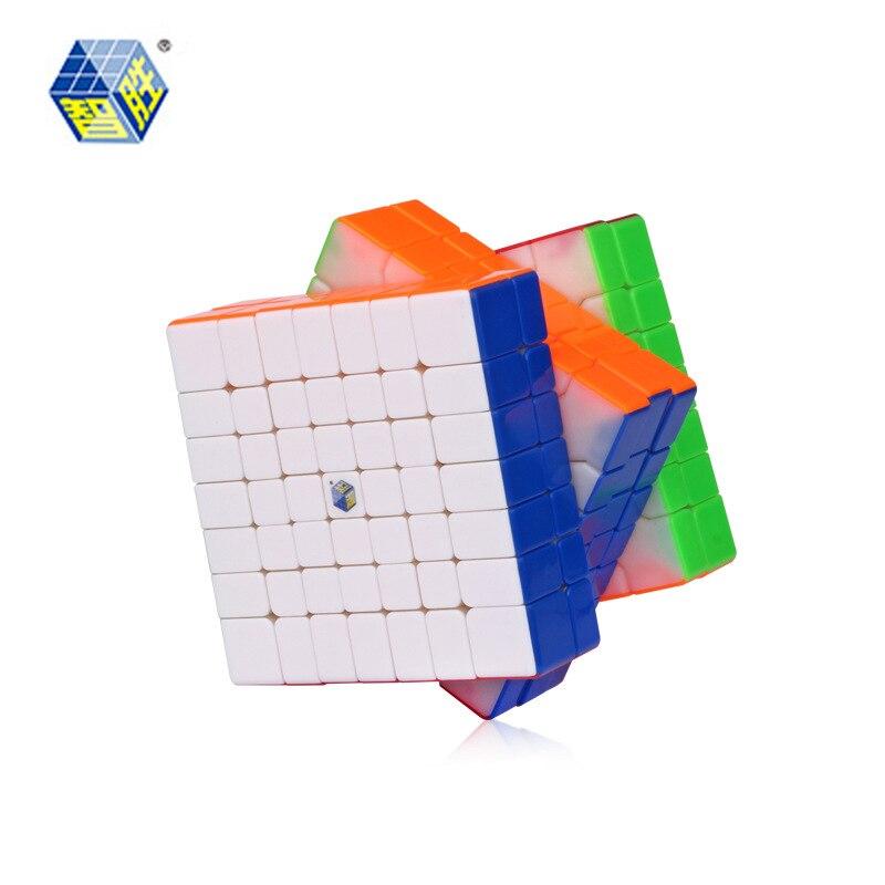 YUXIN ZHISHENG HUANGLONG Stickerless 7*7*7 Magic Cube Puzzle Cube Jouets Éducatifs