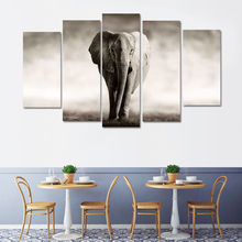 RELIABLI ART 5 Panels/Set Simple Pictures Elephant Canvas Painting Wall Art Print For living room Animal Modern
