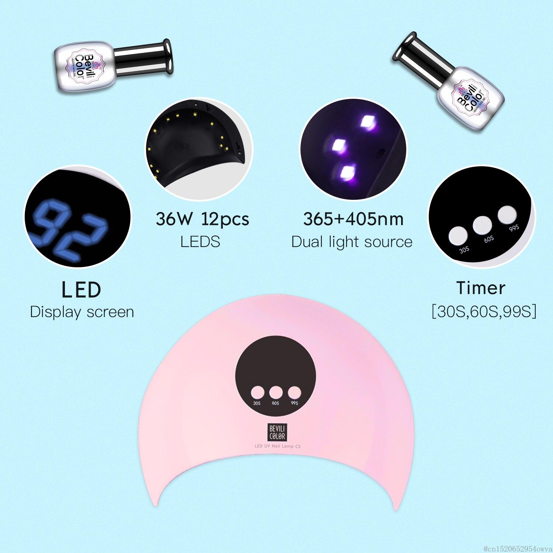 36W 60/90/120s Timer LED UV Nail Gel Lamp Light Gel Polish Curing USB Nail Art Dryer For All Gels Polish Manicure Tools