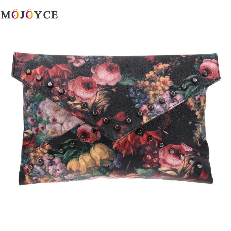 Oil Painting Women handbags crossbody shoulder bags Rivets Handbag Women Envelope Clutch Bag bolsos mujer 2018