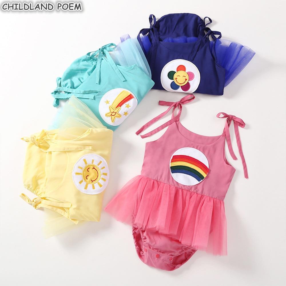 Baby Girls Dress Summer Newborn Infant Baby Clothes Tutu Romper Dress for Girls Cotton Princess 1st First Birthday Party Dress