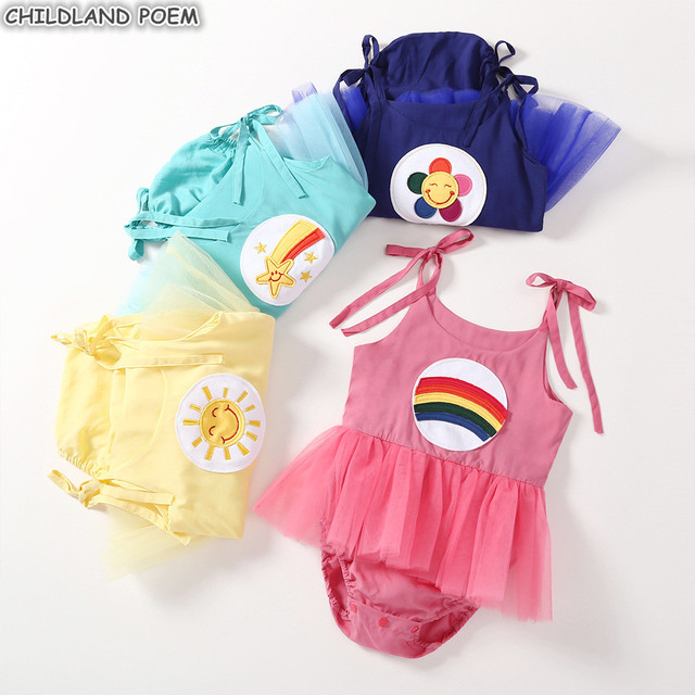 069db7192d Baby Girls Dress Summer Newborn Infant Baby Clothes Tutu Romper Dress for  Girls Cotton Princess 1st First Birthday Party Dress