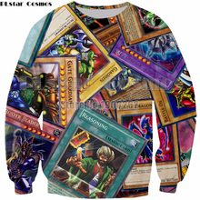 PLstar Cosmos Anime yu gi oh monster cards Harajuku 3D Printed tops Man women Sweatshirt fashion hoodies tops Plus size S-5XL(China)