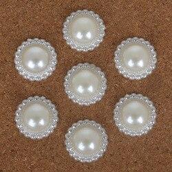 Cuentas de flores de perlas de imitación de ABS marfil para manualidades de joyería DIY de alta calidad de varios tamaños