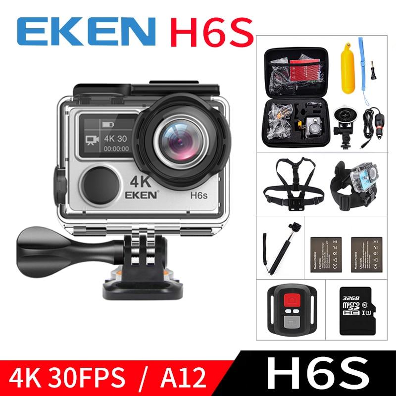 EKEN H6S A12 Ultra 4 K 30FPS Wifi Action Camera 30 M étanche 1080 p aller EIS Stabilisation D'image Ambarella 14MP pro sport cam