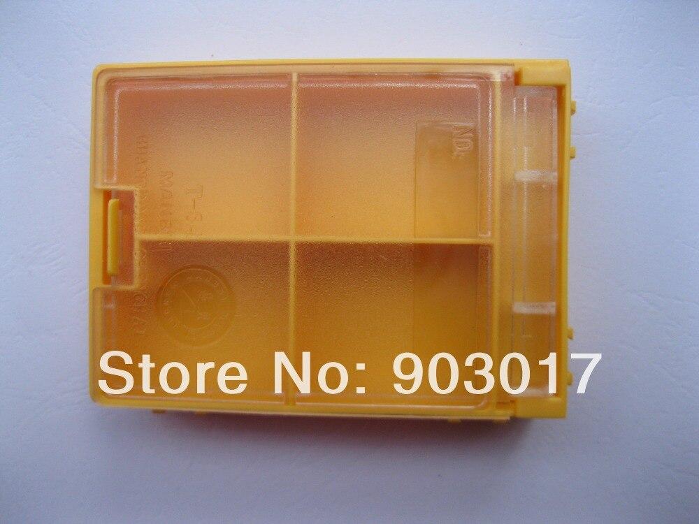4 Pcs SMD SMT Composants Électroniques Mini boîte de stockage 4 (2*2) treillis/blocs T 84 84x61x19mm Jaune Couleur dans Boîtes À outils de Outils