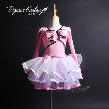 New Stiff Tulles Girl Ballet Tutu Ballerina Dance Adult Dance Costumes Burgundy Velvet Top Tutu Stage Performance Suit B-6311