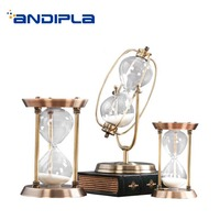 1PCS Nordic Style Metal Glass Time Hourglass for House Desk Decoration Crafts Creative Rotating Sand Clock Timer Wedding Gifts