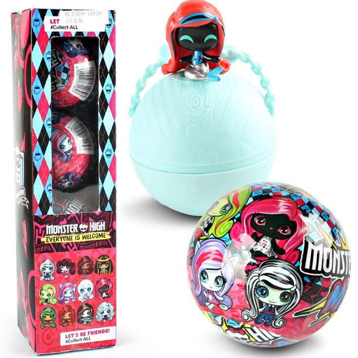 4 Pcs Monstre Figure Jouets Haute 7 cm nql poupées et NQL Série 1 démolition balle poupée robe up jouets cadeau pour les filles enfants enfant jouet