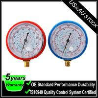 Air Conditioner R410A R134A R22 Refrigerant Low High Pressure Gauge PSI KPA Blue/Red