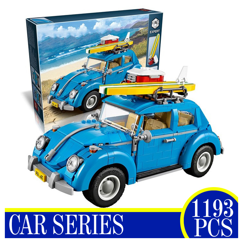 Lepin 21003 1193Pcs Yile City Car Beetle Building Blocks Technic Bricks Action Figure Vehicle Toy Children Gift Compatible 10252 lepin 02012 city deepwater exploration vessel 60095 building blocks policeman toys children compatible with lego gift kid sets