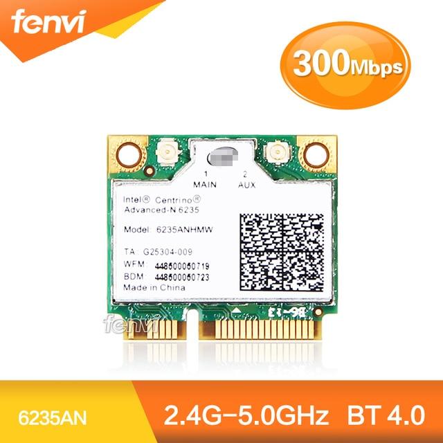 НОВЫЙ Dual band 300 Мбит Wi-Fi Bluetooth Карты для Intel Centrino Advanced-N 6235 6235AN Wireless-N Половины Mini PCI-E 5 ГГц Wlan + BT 4.0