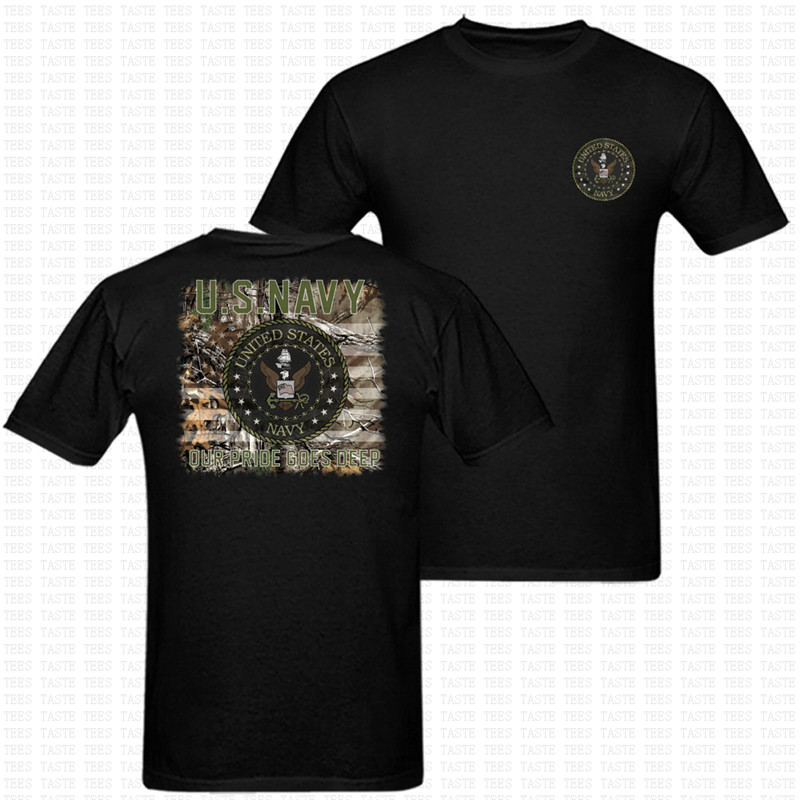 New U.S. Navy Amy Special Force Mens Print T Shirt Two Side US Size US Army Military O Neck T-Shirt United States Brand Top Tees