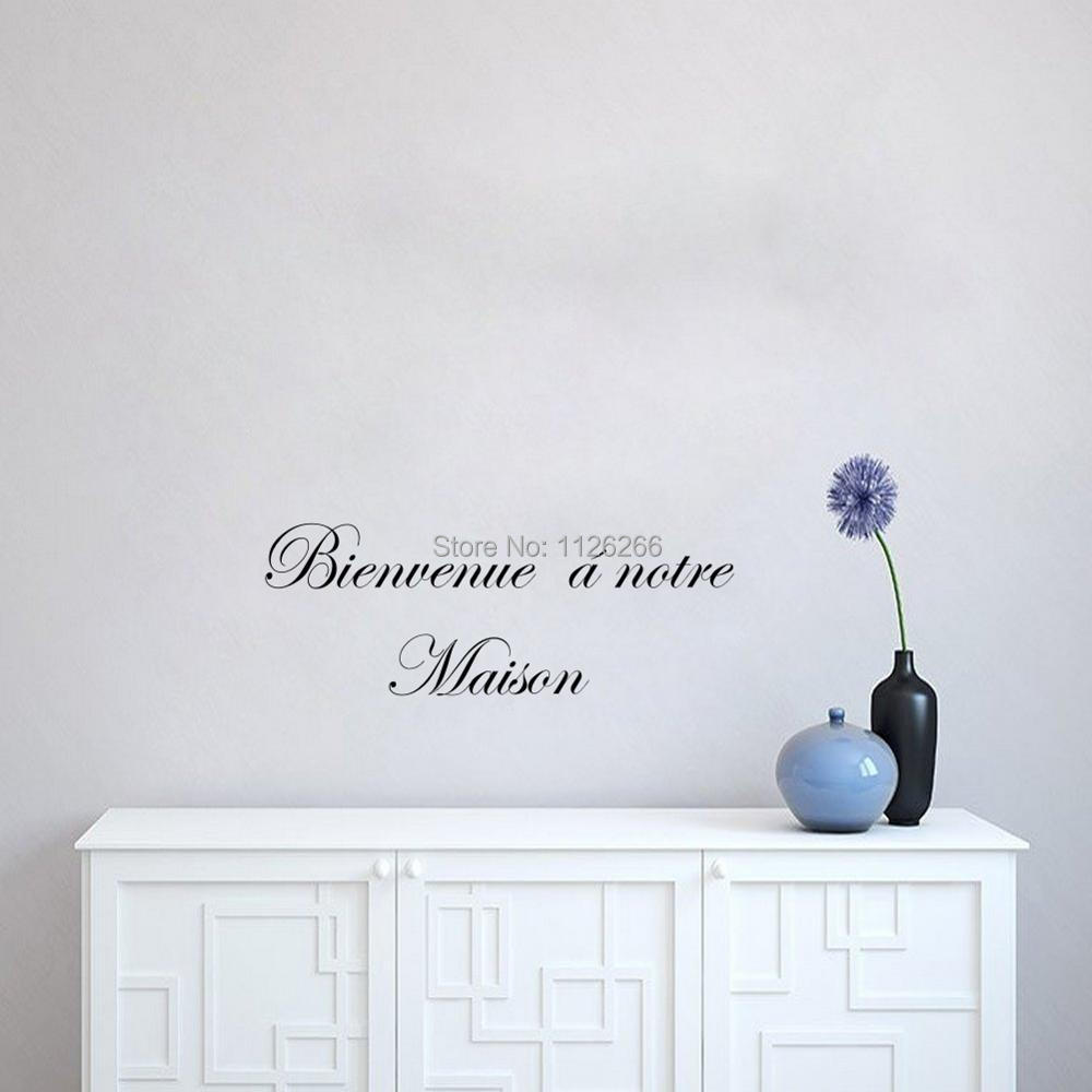 welcome to our home in french french quote welcome to our home wall decals removable home
