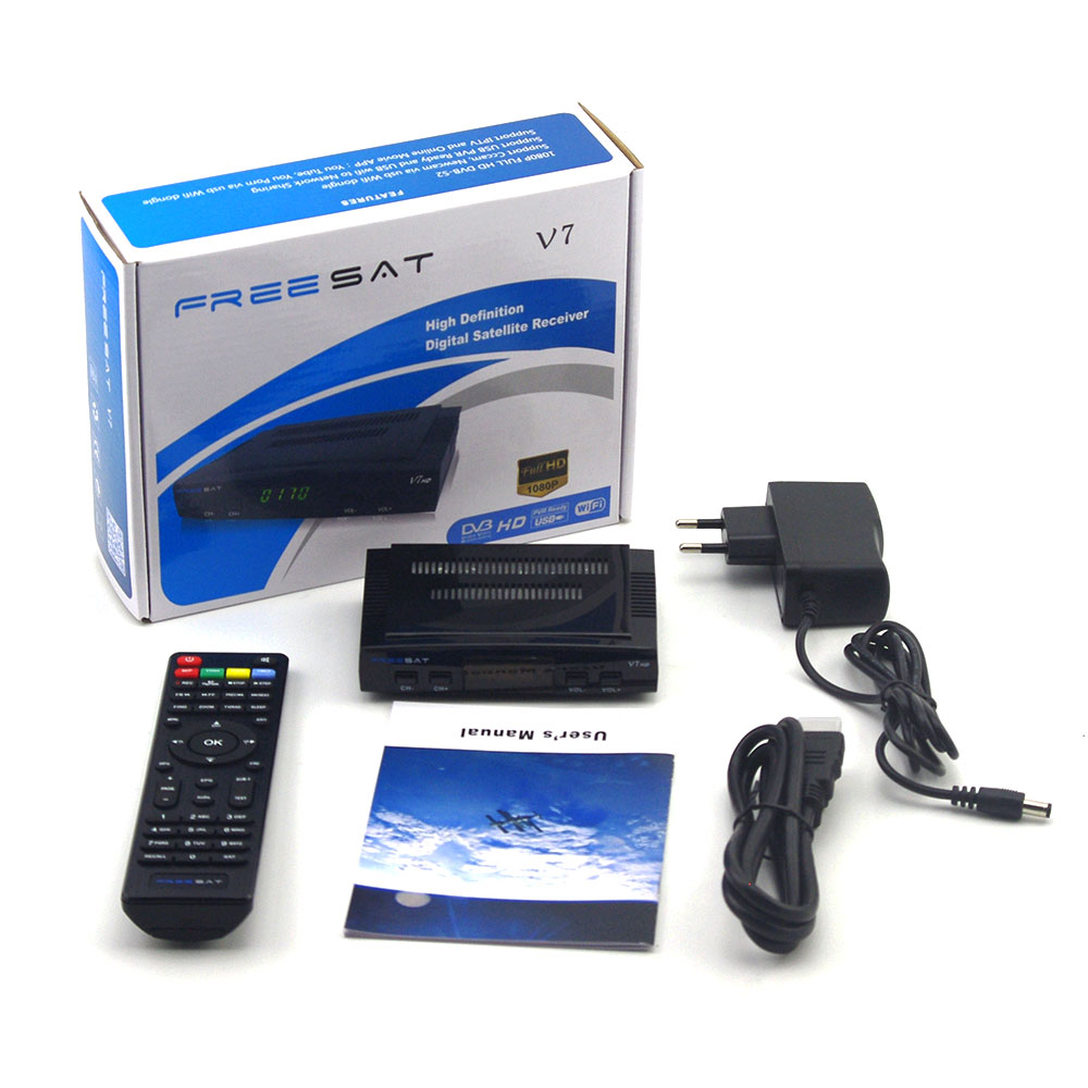 New Arrival Freesat V7 DVB S2 HD satellite font b TV b font font b receiver
