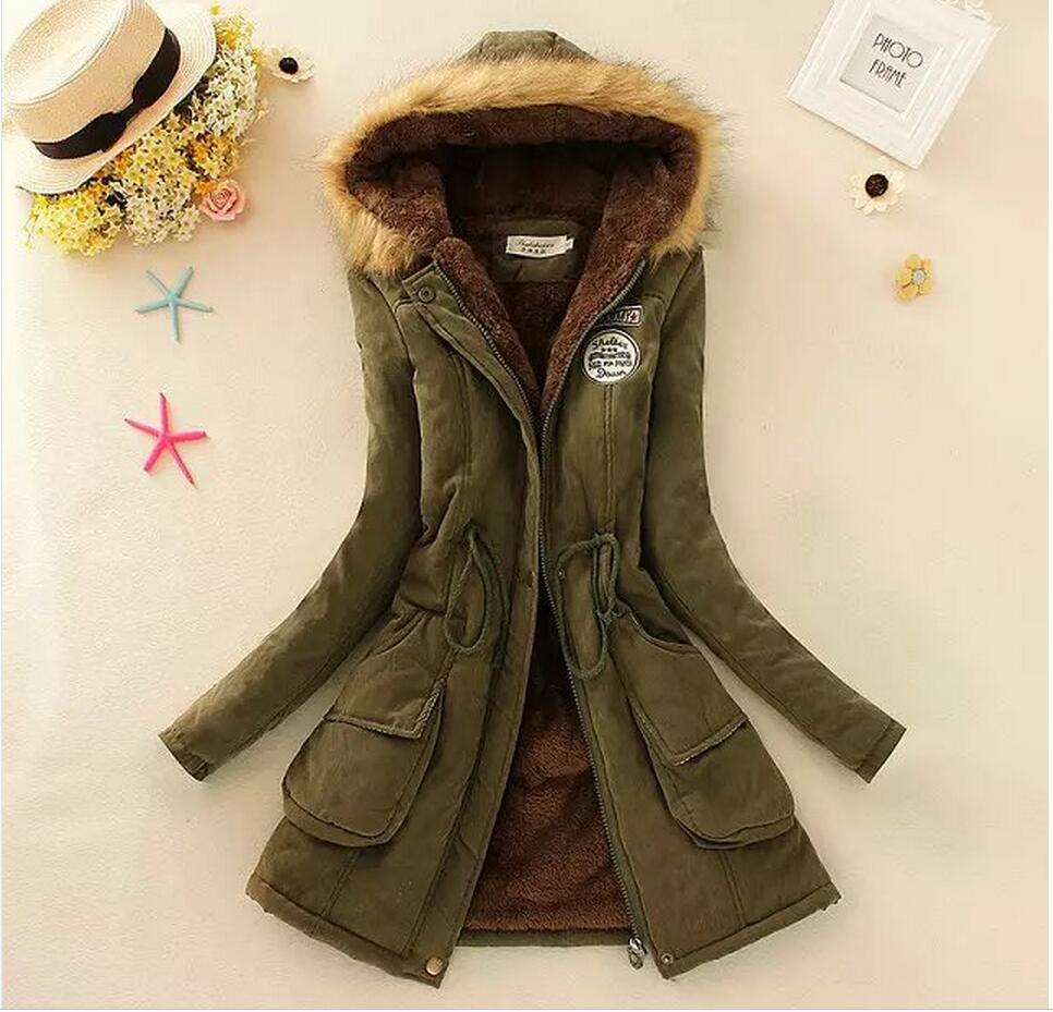 Autumn Parkas Winter Jacket Women Coats Female Outerwear Plus Size Casual Long Down Cotton women basic jacket coat   6105