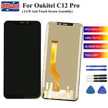 """6.18 """"OUKITEL C12 PRO LCD + 터치 스크린 디스플레이 디지타이저 어셈블리 교체 용 OUKITEL C12PRO 스마트 폰 스크린 수리"""