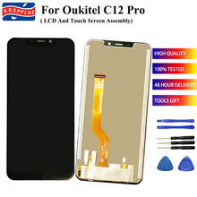"For OUKITEL C12 PRO LCD + Touch Screen Display Digitizer Assembly Replacement For OUKITEL C12PRO Smart Phone 6.18"" Screen Repair"