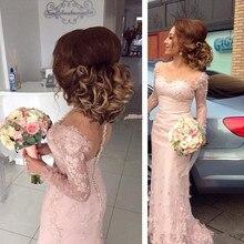 Long Sleeves Cheap Bridesmaid Dresses Under 50 Mermaid Sweet