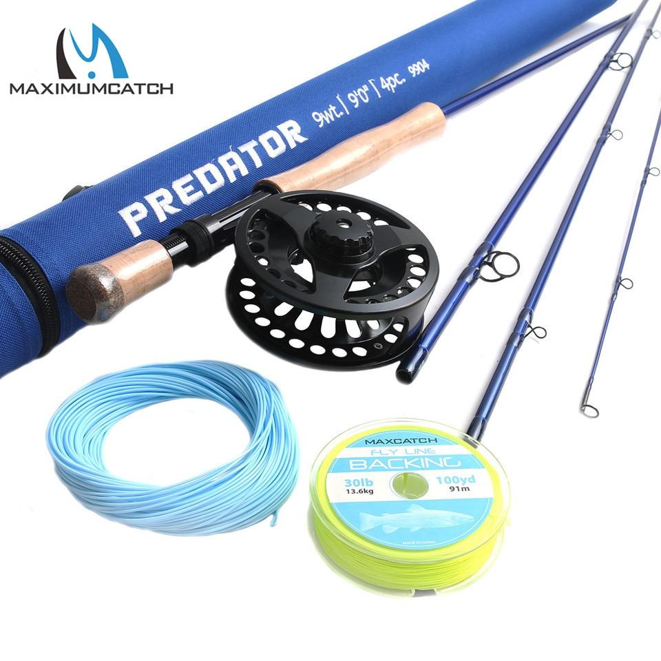 Maximumcatch 9FT Saltwater Fly Rod 8 9 10wt 4pcs 30T SK Carbon Fiber Fly Fishing Rod