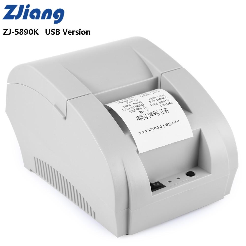 Zjiang ZJ-5890K Mini 58mm Receipt Thermal Printer 90mm/s USB Port Low Noise For ESC/ POS EPSON Samsung Receipt Printing Machine