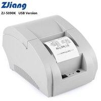 Zjiang ZJ 5890K Mini 58mm Receipt Thermal Printer 90mm/s USB Port Low Noise For ESC/ POS EPSON Samsung Receipt Printing Machine