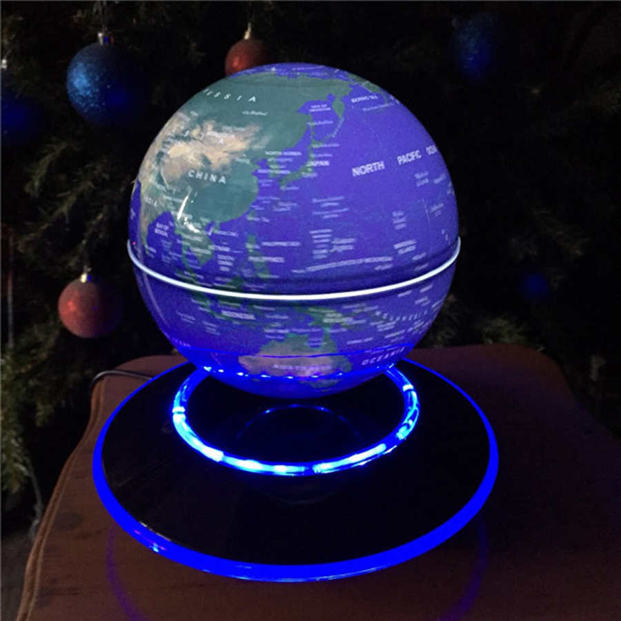6 inch creative electronic magnetic levitation floating luminous 6 inch creative electronic magnetic levitation floating luminous globe world map for kids boss friend christmas birthday gifts in figurines miniatures gumiabroncs Images