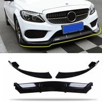 Front Bumper Lip for Benz W205 C class Sedan 4DR C180 C200 C260 C300 C43( Not C63)