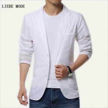 Men s Summer Ultra Thin Light Blazers Long Sleeve Slim Fit Suit Jacket Chiffon White Casual Blazer Plus Size 4XL 5XL 6XL
