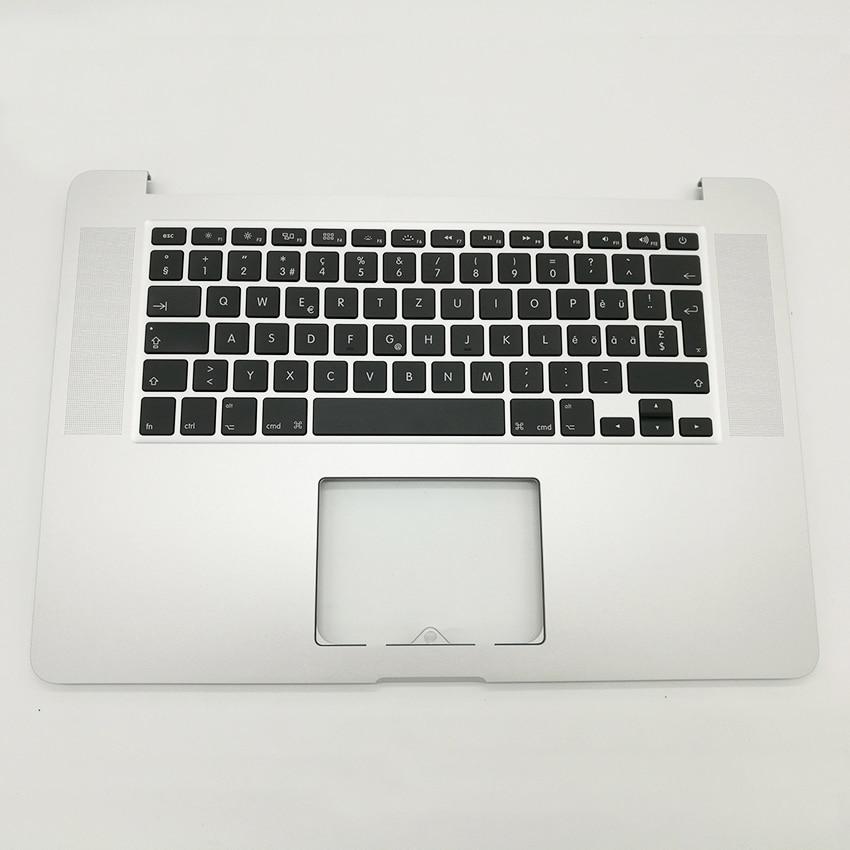 New For Macbook Pro Retina 15 4 A1398 Swiss Switzerland Top case Palmrest With keyboard backlight