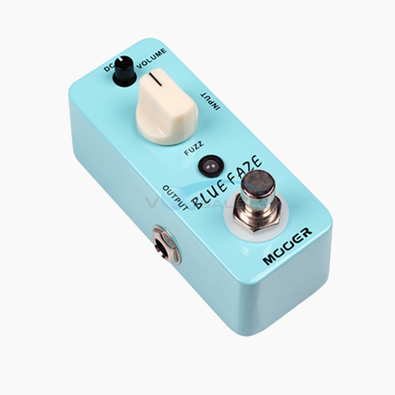 Mooer Blue Faze Guitar Effect Pedal A smooth /Vintage Fuzz Sound with True Bypass MMD1 aroma agf 3 guitar pedal vintage germanium fuzz guitar effect pedal mini analogue true bypass guitar parts