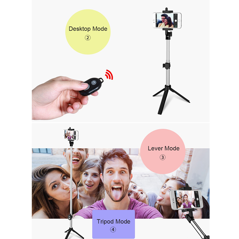 CASEIER Tripod For Phone Bluetooth Selfie Holder Stick For Mobiel Phone Palo Selfie Handheld Stick For iPhone Android Handheld in Phone Holders Stands from Cellphones Telecommunications
