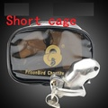New deisn Short Steel Male Lock cage  Male chastity  man birdlock male  cages bound chastity device cage  lock penis bondage