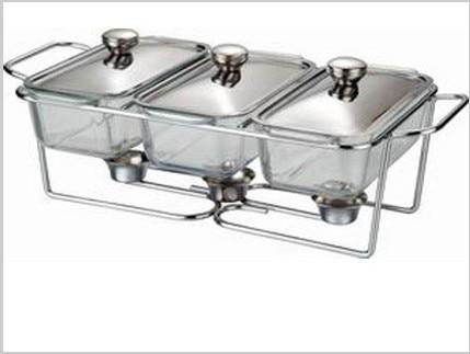 drie gootsteen glazen buffet schotel chafing pot catering - Keuken, eetkamer en bar