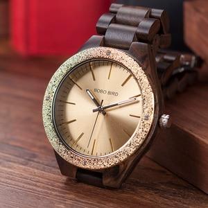 Image 3 - BOBO BIRD Wooden Men Watches erkek kol saati Quartz Handmade Unique Casual Wristwatches Gifts Timepieces Drop Shipping V P05