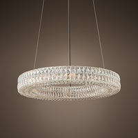 Modern Vintage Luxury K9 Crystal Chandelier Lighting Round Cristal Candle Chandeliers Pendant Hanging Light For Home