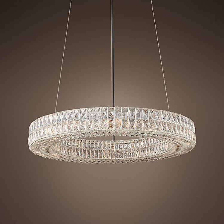Modern Vintage Luxury K9 Crystal Chandelier Lighting Round Cristal Candle Chandeliers Pendant Hanging Light for Home Hotel Decor