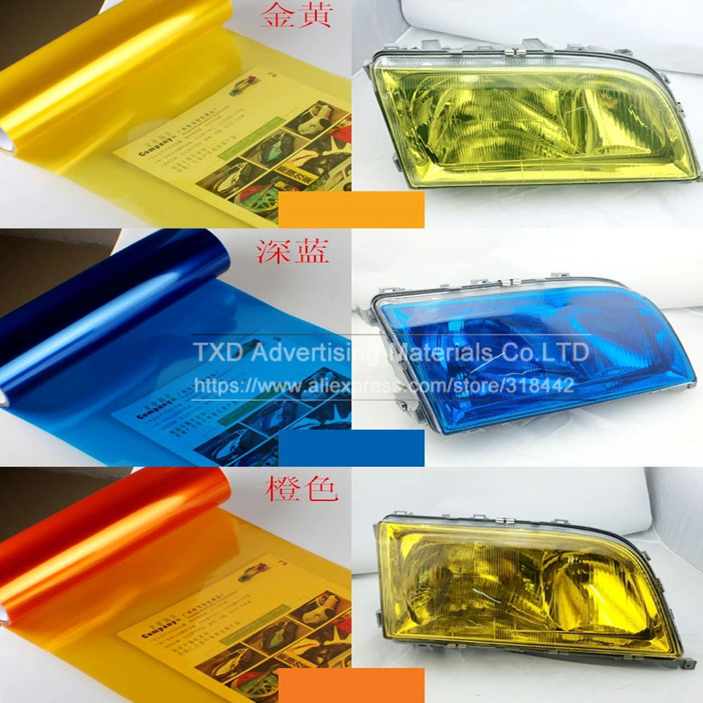 Image 4 - 30*100CM/Lot Glossy Car Headlight Film with 3 layers for headlight protection Glossy Car light film with free shipping-in Car Stickers from Automobiles & Motorcycles