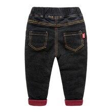 Толстые ноги теплые брюки хлопчатобумажные брюки джинсы baby boy брюки 2016 новый детская одежда зимняя одежда
