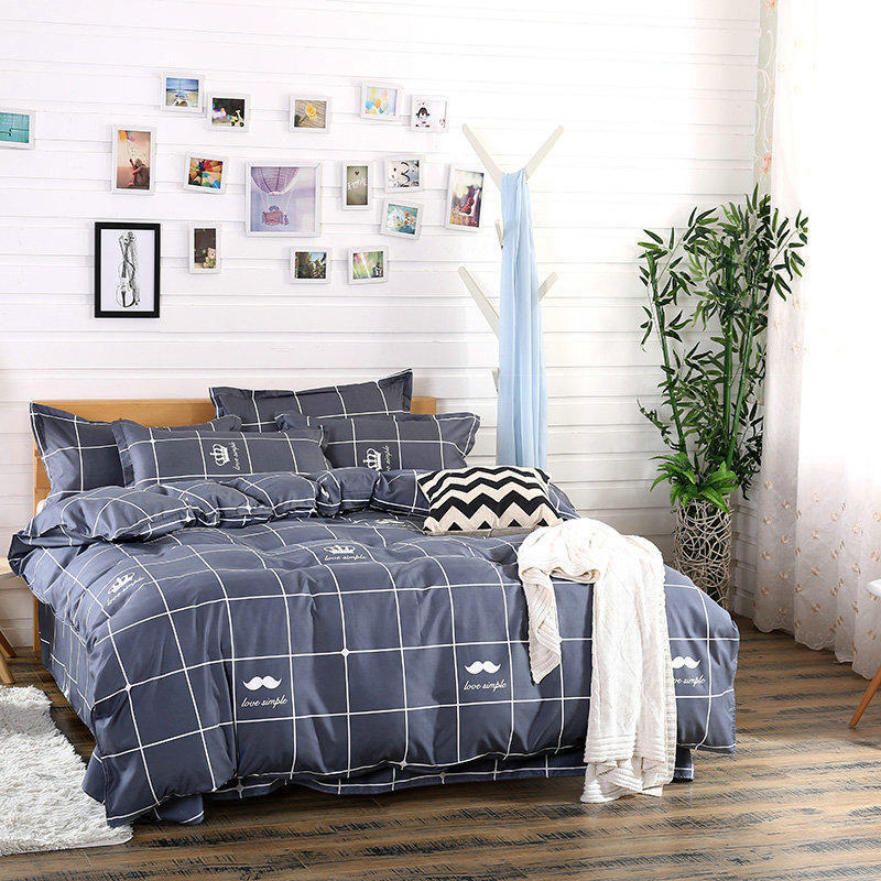 Home Textile Fashionable skin-friendly comfort Soft Aloe Cotton Sheet Quilt cover <font><b>Pillowcase</b></font> Bedding 3/4pcs40 image